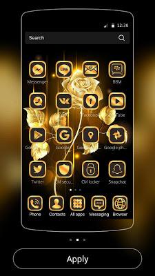 Gold Rose theme luxury gold - screenshot