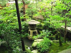 Photo: Jardin zen dans la maison de samouraï ''Buke-Yashiki''