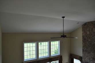 Photo: (Before) Hamilton's Family room angled ceiling Collegeville, PA
