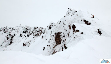 Photo: Summit ridge of Bakening - Happening volcano (2278 m), we are the first Czechs and Slovaks here. Pazout and Katka climbed up to 2000 m on skis...