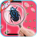 magnifying glass with light & microscope app icon