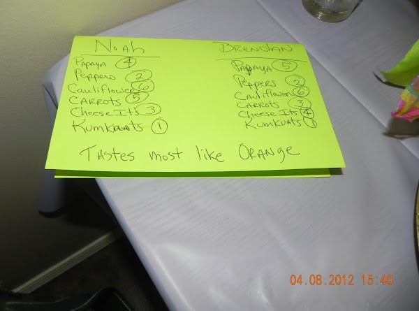 """Here is how the voted on the """"Tastes of Orange"""".Least favorite was the orange..."""