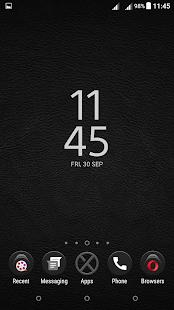Leather XZ Black Theme Xperia - náhled