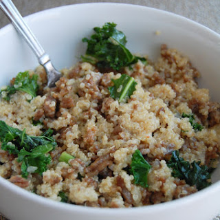 Sausage And Kale Cheesy Quinoa.