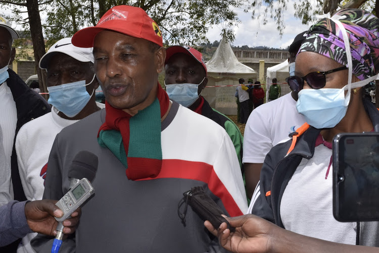 Nyandarua Governor Francis Kimemia tells journalilsts human-wildlife conflict is rampant in the northern part of the lake and a trench around the lake will reduce it.