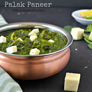 Palak Paneer - Spinach and Indian Cottage Cheese Curry.