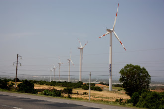 Photo: Year 2 Day 20 -  Wind Turbines at the Top of the Hill
