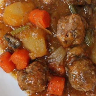 Beef Stew Meatballs