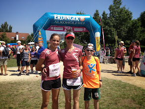 Photo: Waiting on results… So far, Annecy Daggett first place in her age group, Emmaline second place in her age group. So far, the Daggetts are hanging tough in Germany!