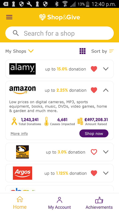 Shop&Give- screenshot