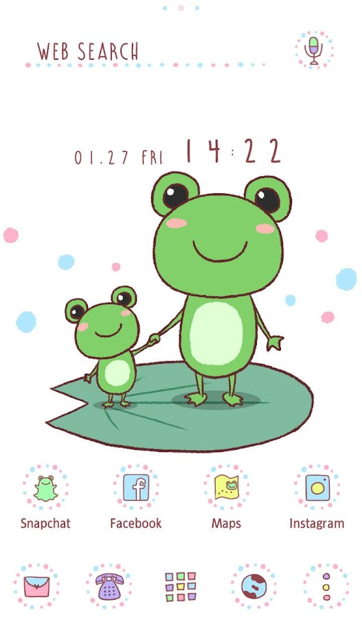 Cute Wallpaper  Friendly Frogs- screenshot