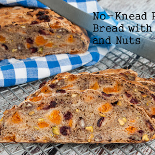 No-Knead Rustic Bread with Fruit and Nuts