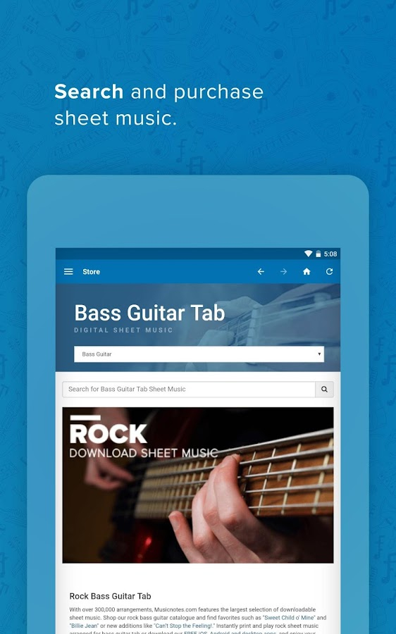 Musicnotes Sheet Music Player - Android Apps on Google Play