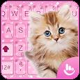 Pink Cute Cat Keyboard Theme icon