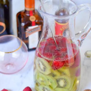 Kiwi + Raspberry Prosecco Sangria