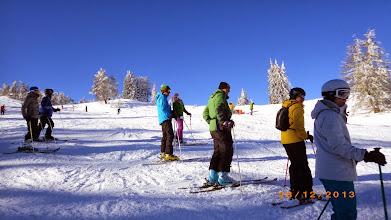 Photo: Skikurs bei Belvedere