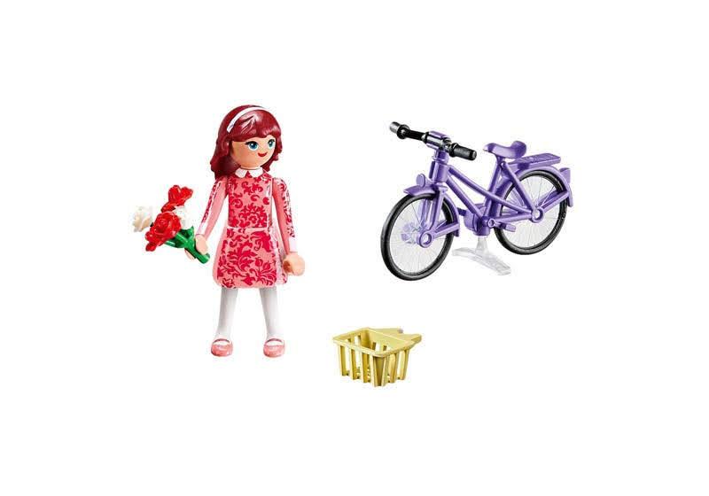 Contenido real de Playmobil® 70124 Maricela con Bicicleta