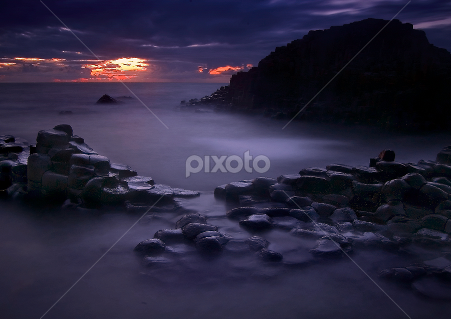 The Giants Causeway by Grzegorz Gluchy - Landscapes Sunsets & Sunrises ( ireland, sunset )