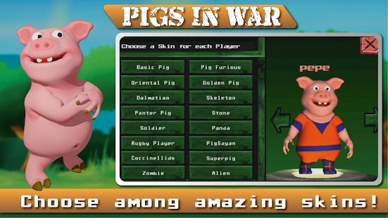 Angry  Pigs In War Strategy offline Games Screenshot