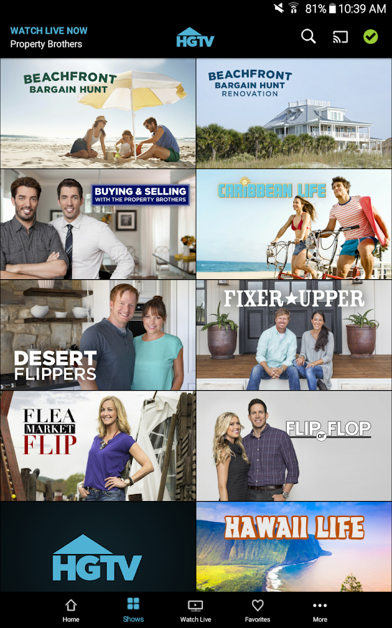 Watch HGTV- screenshot