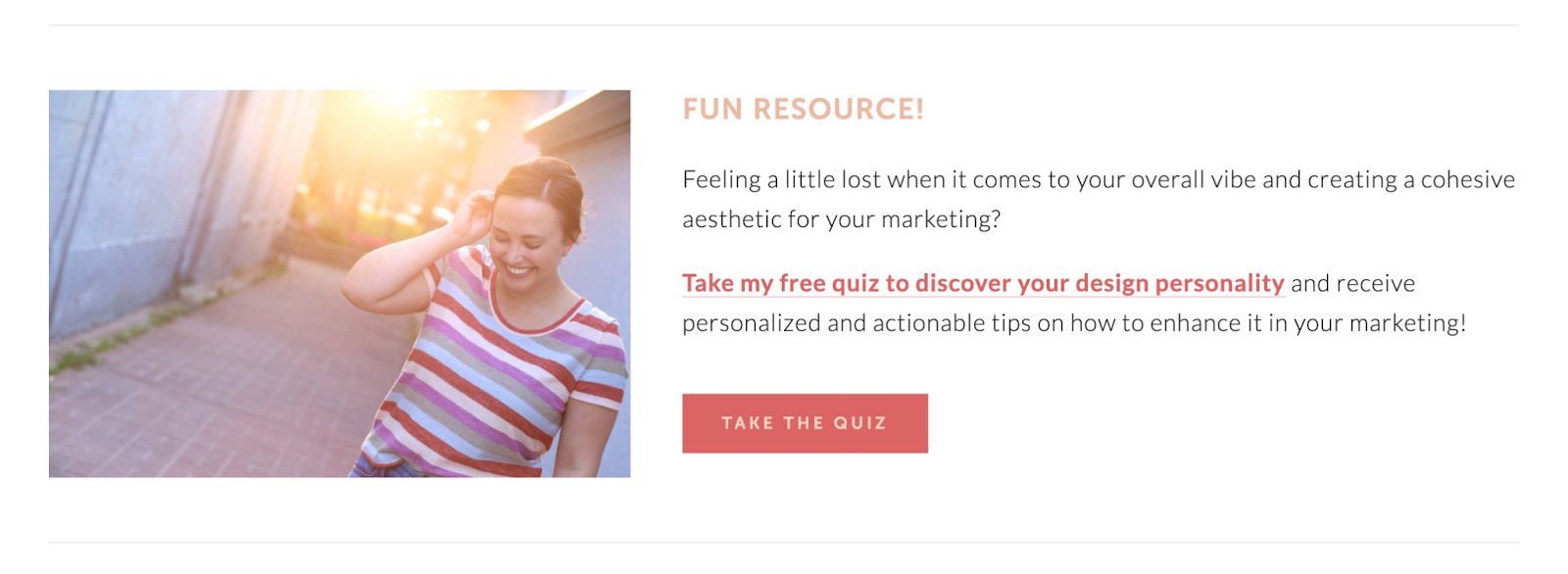 CTA Take the quiz in blog posts