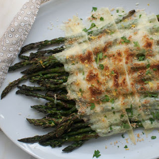 Grilled Asparagus with Raclette.