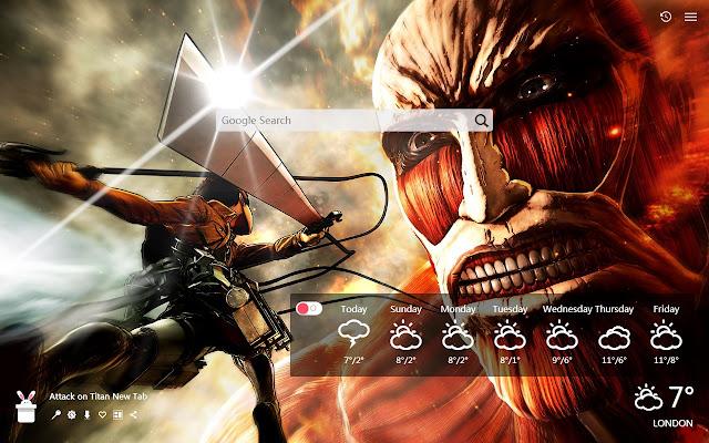 Attack on Titan New Tab, Wallpapers HD