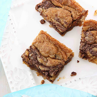 Nutella & Cream Cheese Swirled Blondies