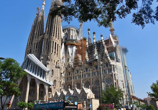 Sagrada-Familia-1.jpg - Gaudi's famed Sagrada Familia Cathedral of Barcelona, a classic example of gothic architecture.