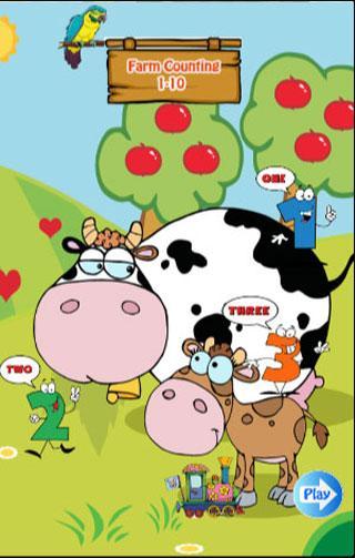 算上1-10各種動物在農場。