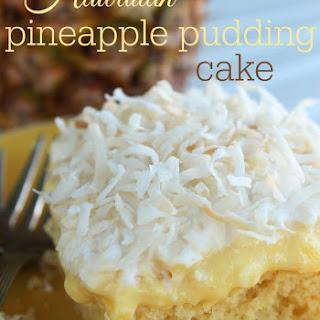 Hawaiian Pineapple Pudding Cake.