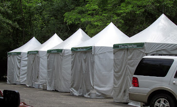Photo: Tents before the storm.