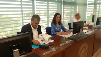 El rector de la Universidad, junto a la presidenta del Consejo Social, Magdalena Cantero.