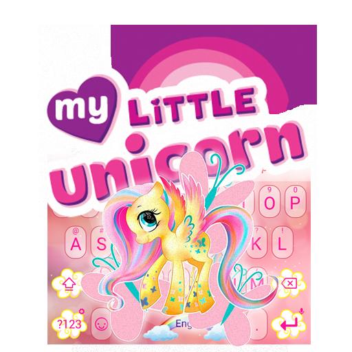 My Little Unicorn Theme&Emoji Keyboard