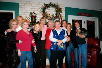 Photo: Christmas 2009 at Michele (Baldree) Bibb's home - and Yes Barry was there. He's getting used to all of us women. Suzy (Wright) Thomas, Rita (Leeper) Sholund, Melinda (Wright) Young, Barbara (Novosad) Stueve, Kathi (Hesson) Curtis, Rosemary (Worthy) Dooley, Mary (Traud) Austin, Carol (Craven) Barnes, Linda (Wilson) Mitchell, Michele (Baldree) Bibb