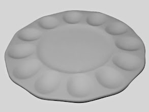 "Photo: Egg plate (2 in stock)  $22 10 3/4"" D"
