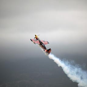 Red Bull Stunt Plane by Jud Joyce - Transportation Airplanes ( flight, airplane, stunts, skies, shows )