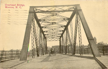 Photo: The overhead bridge linked Church Street and Winchester Avenue above the Seaboard railroad tracks. It was torn down in the 1950's when the Skyway bridge was built. Postcard postmarked 1913.