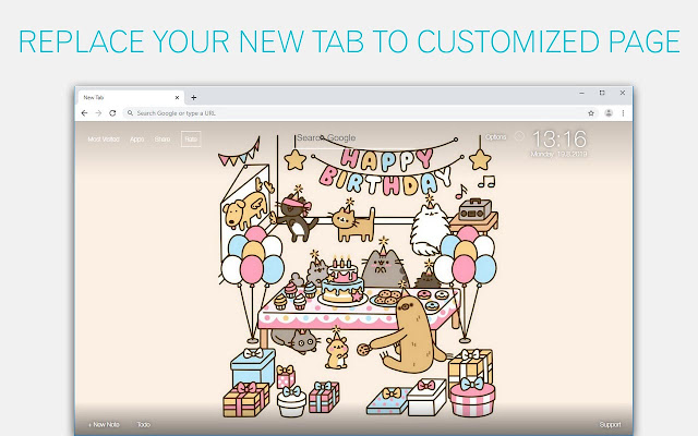 Cute Cats Pusheen HD Wallpapers New Tab
