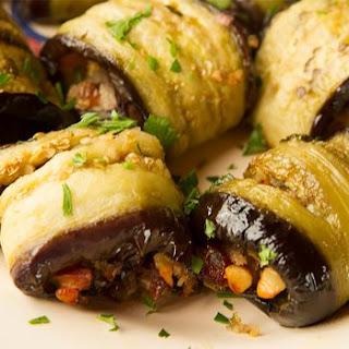 Stuffed Sicilian Eggplant Rolls.