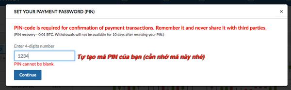 Bitcoin 4 digit code