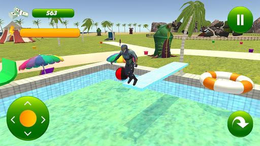 super hero water slide uphill rush  screenshots 3