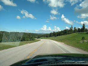 Photo: approaching the Devil's tower