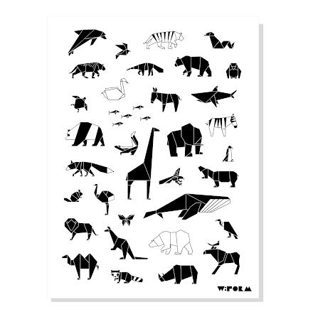 W:FORM Poster Animals B/W