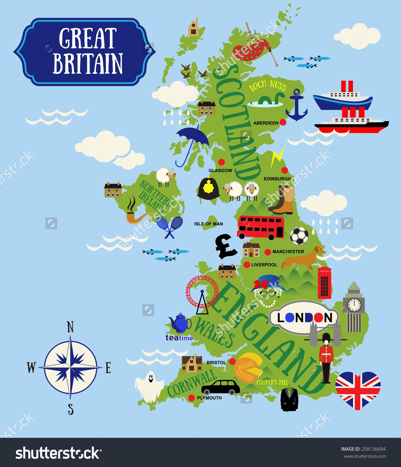 Kids Map Of England.Final Task Cloudschool