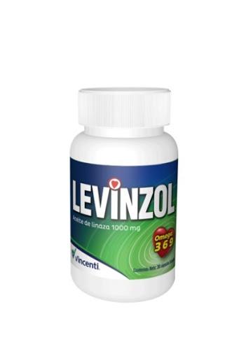 Levinzol 1000mg 30 Capsulas Aceite de Linaza Vincenti