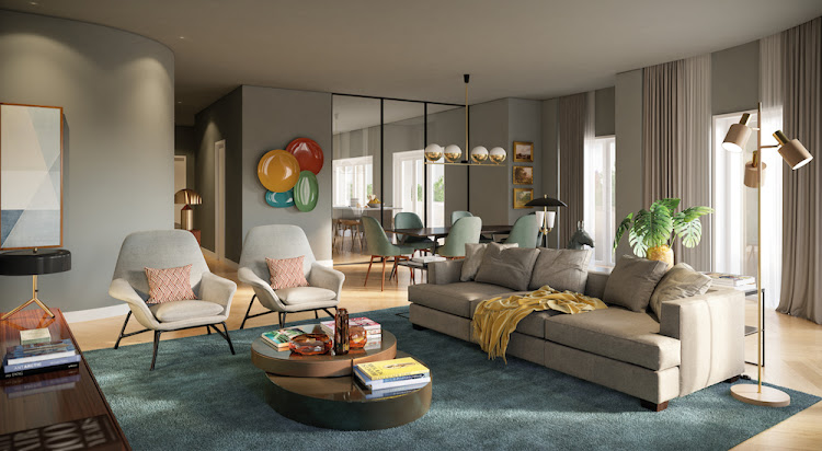 Interior: living space in an apartments in The Emporium, downtown Porto. Picture: SUPPLIED/PAM GOLDING