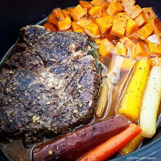 5-Ingredient Slow Cooker Easy Pot Roast Recipe