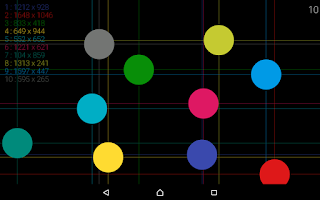Screenshot of MultiTouch Test