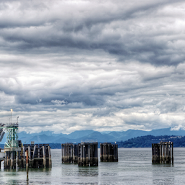Edmonds Waterfront  by Todd Reynolds - Buildings & Architecture Public & Historical